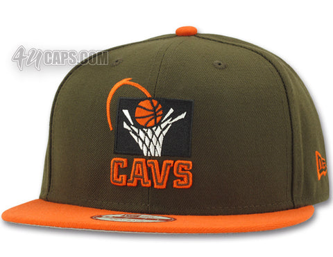 1f29c8b873b ... new style cleveland cavaliers new era 9fifty snapback brown orange  a04c9 de1d8