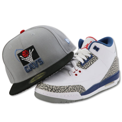 CLEVELAND CAVALIERS NEW ERA  59FIFTY FITTED  (AIR JORDAN 3 RETRO TRUE BLUE)