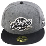 CLEVELAND CAVALIERS NEW ERA  59FIFTY FITTED (FLEECE FOAMS)
