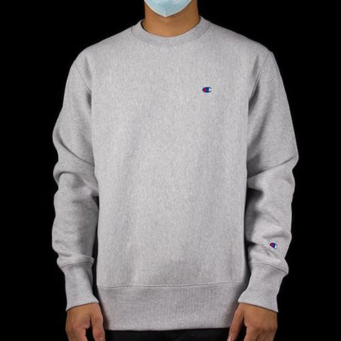 CHAMPION  REVERSE WEAVE CREW (OXFORD GREY)