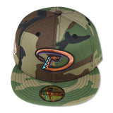 "ARIZONA DIAMONDBACKS (CAMO) ""2001 WORLDSERIES"" NEW ERA 59FIFTY FITTED (AQUA BOTTOM)"