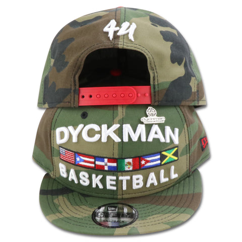 DYCKMAN BASKETBALL NEW ERA 9FIFTY CAMO SNAPBACK WITH PIN