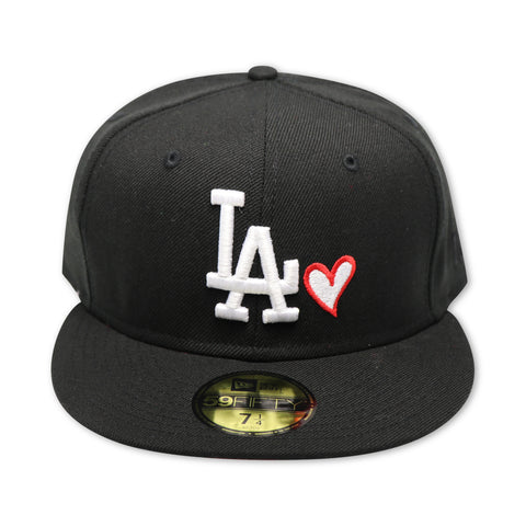 "LOS ANGELES DODGERS 'LOVE OF THE GAME & TACO"" NEW ERA 59FIFTY FITED (RED BOTTOM)"
