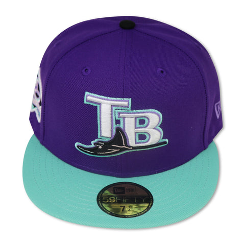 TAMPABAY DEVILRAYS (10TH ANNIVERSARY) NEW ERA 59FIFTY FITTED (PINK BOTTOM)