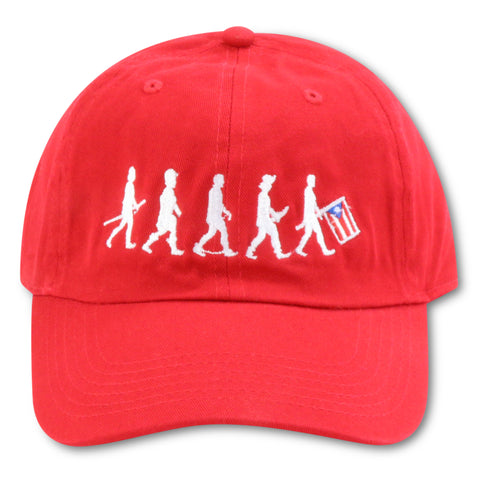 4U CUSTOM EVOLUTION OF PUERTO RICO RED DAD HAT
