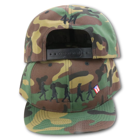 4U CUSTOM EVOLUTION OF PUERTO RICO CAMO SNAPBACK