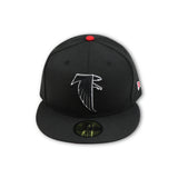 ATLANTA FALCONS NEW ERA 59FIFTY FITTED (AIR JORDAN 9 RETRO BRED)