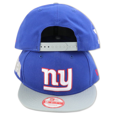 NEW YORK GIANTS (GREY VISOR) NEW ERA 9FIFTY SNAPBACK
