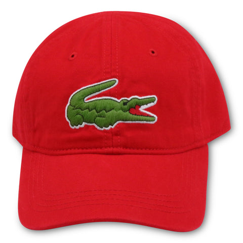 LACOSTE RED SPORTS DAD HAT