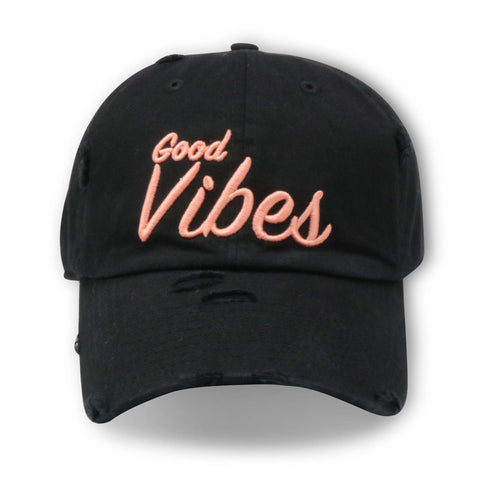 MIGHTY NYC GOOD VIBES (BLACK/PINK) DAD HAT