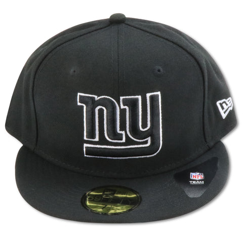 NEW YORK GIANTS NEW ERA  59FIFTY (BLACK/WHITE) FITTED