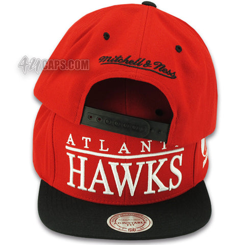 ATLANTA HAWKS TOP SHELF SNAPBACK BY MITCHELL & NESS (VR22Z)