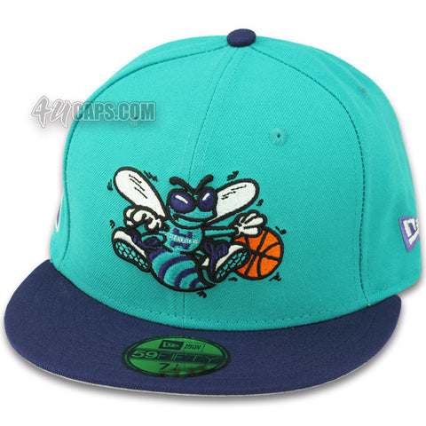 CHARLOTTE HORNETS NEW ERA 59FIFTY FITTED (TEAL / PURPLE)