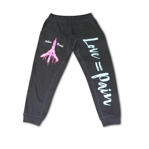 NOIRPARIS  LOVE & PAIN BLACK JOGGER (SOUTH BEACH COLORS)