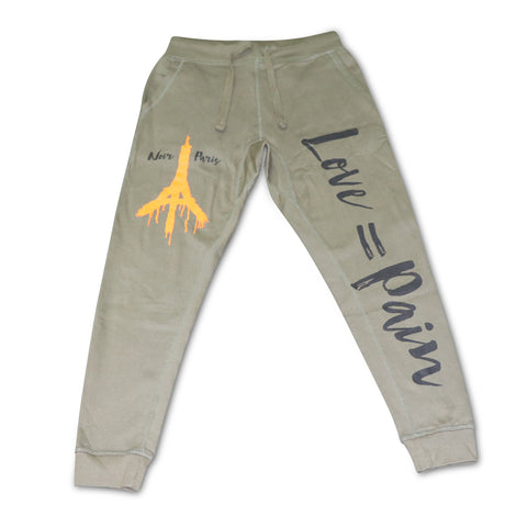 NOIRPARIS LOVE & PAIN (OLIVE) JOGGER
