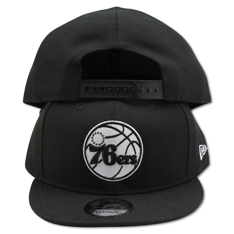 PHILADELPHIA 76ERS BLACK NEW ERA 9FIFTY SNAPBACK
