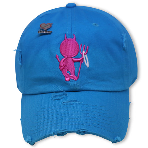 NOIRPARIS  MR. LUST (AQUA/PINK) DAD HAT