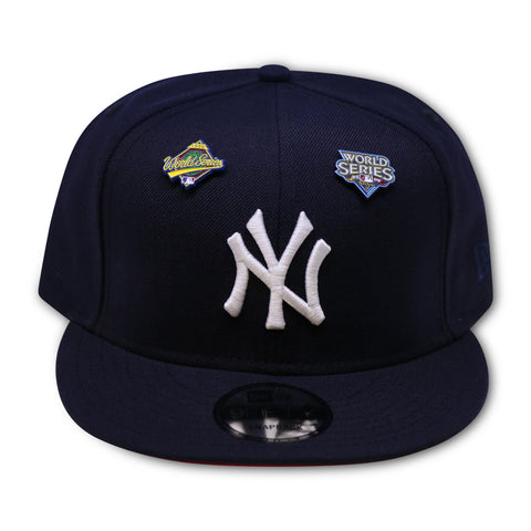 NEW YORK YANKEES (1996, 2009 WS PINS )NEW ERA 9FIFTY SNAPABACK