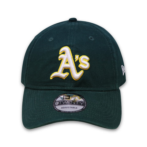 OAKLAND ATHLETICS 920 NEW ERA DAD HAT (DARK GREEN)