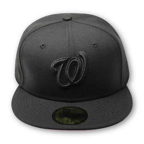 "WASHINGTON NATIONALS (2019 WS ""BLACKOUT COLLECTION)"" NEW ERA 59FIFTY FITTED (PINK BOTTOM)"
