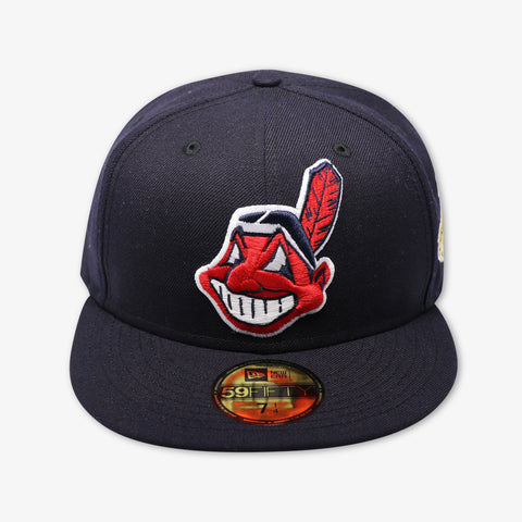 CLEVELAND INDIANS (NAVY) (1995 WORLD SERIES) NEW ERA 59FIFTY FITTED (GREY BRIM)