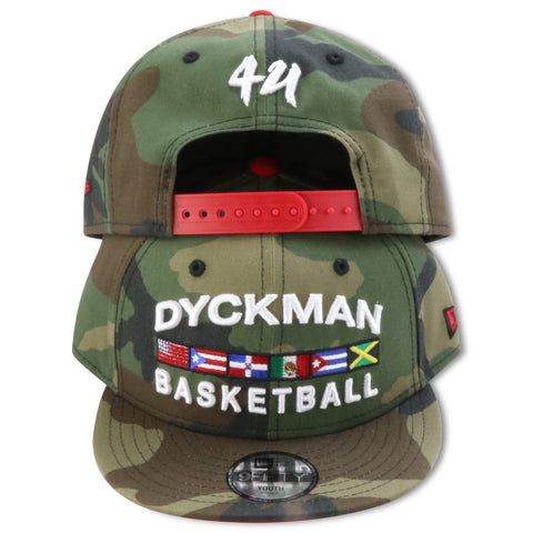 DYCKMAN BASKETBALL KIDS NEW ERA 9FIFTY CAMO SNAPBACK
