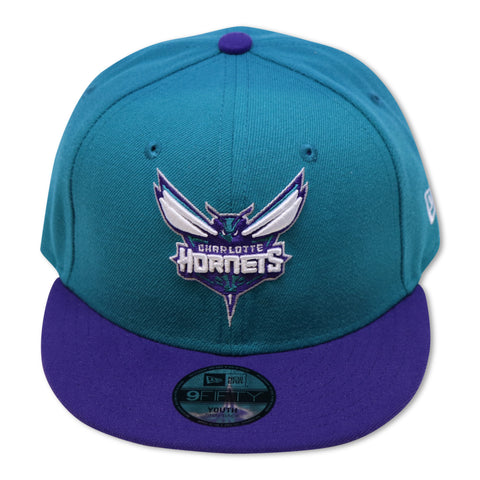 """KIDS"" CHARLOTTE HORNETS NEW ERA 9FIFTY SNAPBACK"