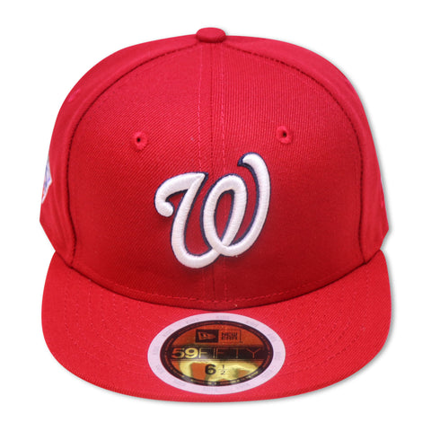 "KIDS - WASHINGTON NATIONALS RED ""2019 WORLDSERIES"" NEW ERA 59FIFTY FITTED (PINK BOTTOM)"