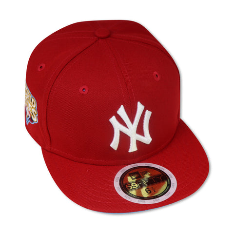 "KIDS - NEW YORK YANKEES (RED) ""2009 WORLDSERIES"" NEW ERA 59FIFTY FITTED (SKY BLUE BOTTOM)"