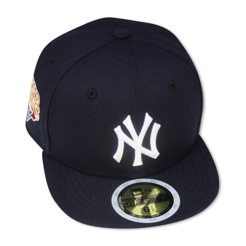 "KIDS - NEW YORK YANKEES (NAVY)""2009 WORLDSERIES"" NEW ERA 59FIFTY FITTED (PINK BOTTOM)"