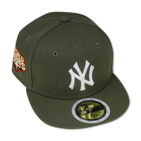 "KIDS - NEW YORK YANKEES (OLIVE) ""2009 WORLDSERIES"" NEW ERA 59FIFTY FITTED (RED BOTTOM)"
