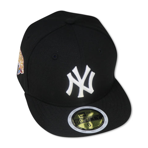 "KIDS - NEW YORK YANKEES (BLACK) ""2009 WORLDSERIES"" NEW ERA 59FIFTY FITTED (PINK BOTTOM)"