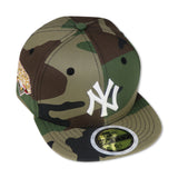 "KIDS - NEW YORK YANKEES (CAMO) ""2009 WORLDSERIES"" NEW ERA 59FIFTY FITTED (PINK BOTTOM)"