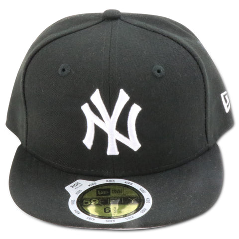 KIDS NEW YORK YANKEES (BLACK/WHITE) NEW ERA 59FIFTY FITTED