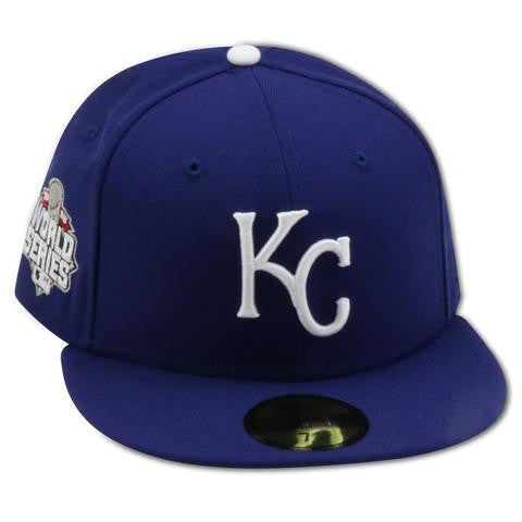 b79a1e9b5e9 KANSAS CITY ROYALS 2015 WORLD SERIES NEW ERA 59FIFTY FITTED (GREY ...