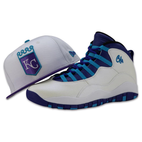 KC ROYALS NEW ERA 59FIFTY FITTED (AIR JORDAN10 RETRO CHARLOTTE)