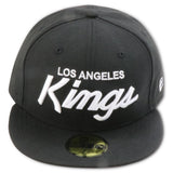 LOS ANGELES KINGS NEW ERA 59FIFTY FITTED (BLACK/WHITE)