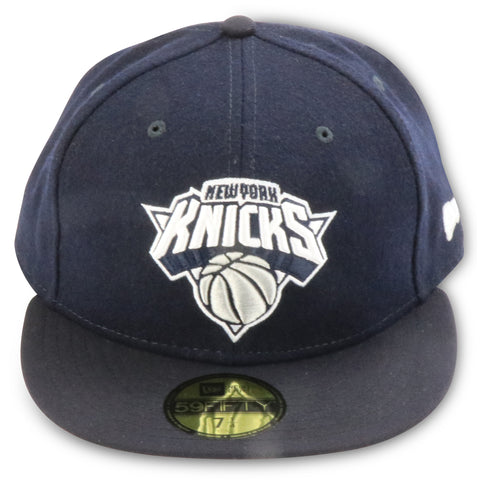 NEW YORK KNICKS NEW ERA 59FIFITY FITTED (NAVY WOOL)
