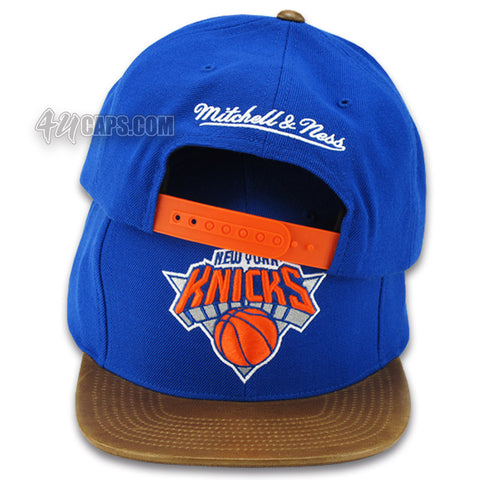 NEW YORK KNICKS CUSTOM VINTAGE LAMB SKIN SNAPBACK (VH91Z)