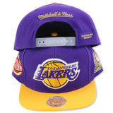 LOS ANGELES LAKERS 2002 FINALS MITCHELL & NESS  SNAPBACK (092VZ)