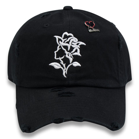 NOIRPARIS  LE ROSE (BLK/WHT) DAD HAT