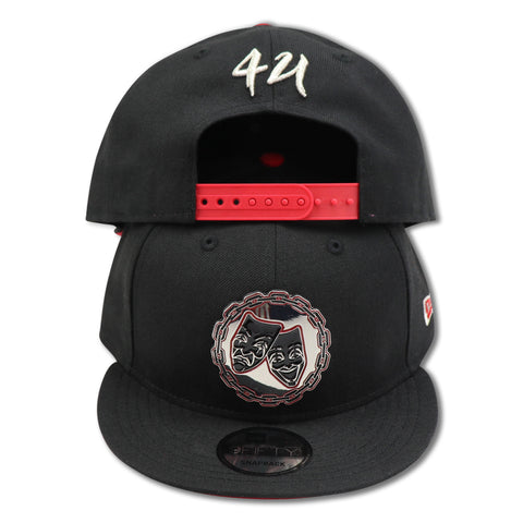 FACES OF LIFE METALLIC NEW ERA 9FIFTY SNAPBACK (AIR JORDAN 3 RETRO BLACK CEMENT)