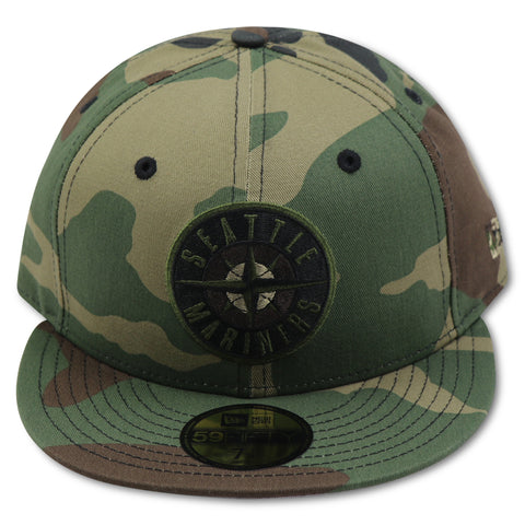SEATTLE MARINERS CAMO NEW ERA 59FIFTY FITTED