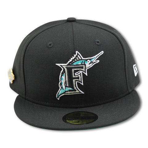 FLORIDA MARLINS 1997 WORLD SERIES PIN NEWERA 59FIFTY FITTED (GREEN BRIM)