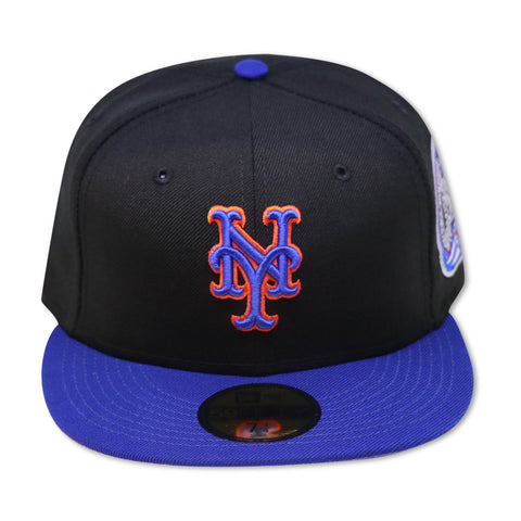 NEW YORK METS (ROYAL/BLACK)SUBWAY SERIES NEW ERA 59FIFTY FITTED (GREY BRIM)