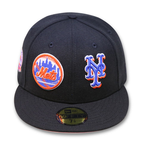 "NEW YORK METS ""DOUBLE TROUBLE"" NEW ERA 59FIFTY FITTED (PINK BOTTOM)"