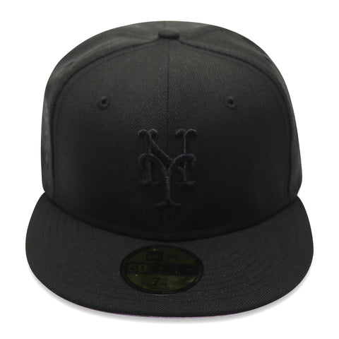 "NEW YORK METS (2000 SUBWAY SERIES ""BLACKOUT SERIES"") NEW ERA 59FIFTY FITTED (PINK BOTTOM)"