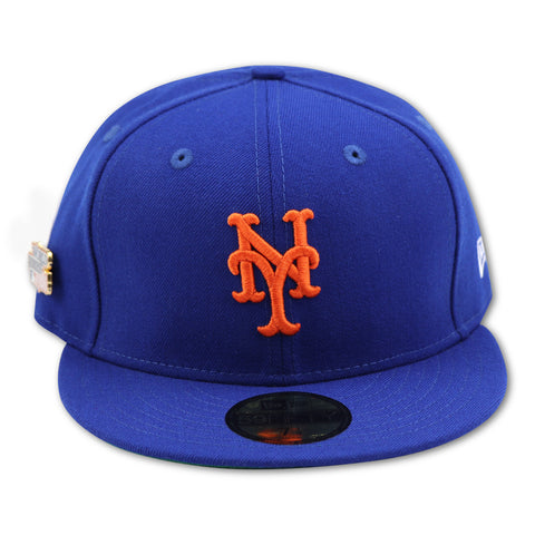 NEW YORK METS 1986 WORLDSERIES PIN NEW ERA 59FIFTY FITTED (GREEN BRIM)