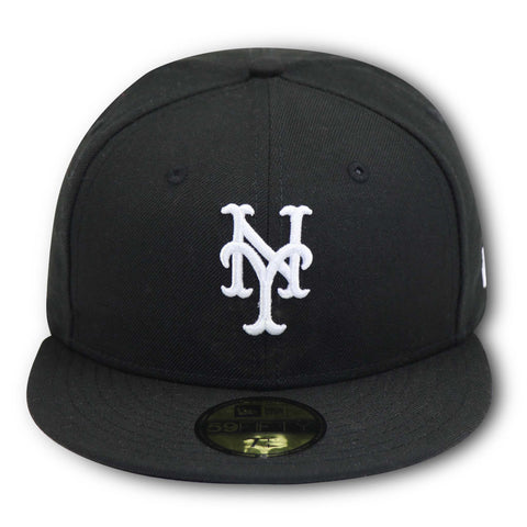 NEW YORK METS NEW ERA 59FIFTY (B/W) FITTED