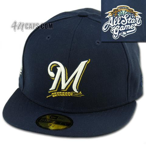 MILWAUKEE BREWERS 2002 ALL STAR GAME NEW ERA 59FIFTY FITTED